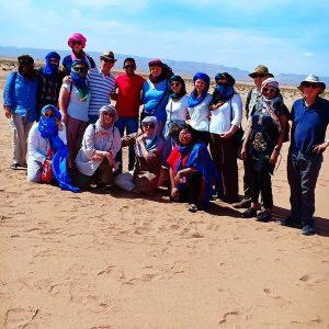 Groupe au coeur du desert